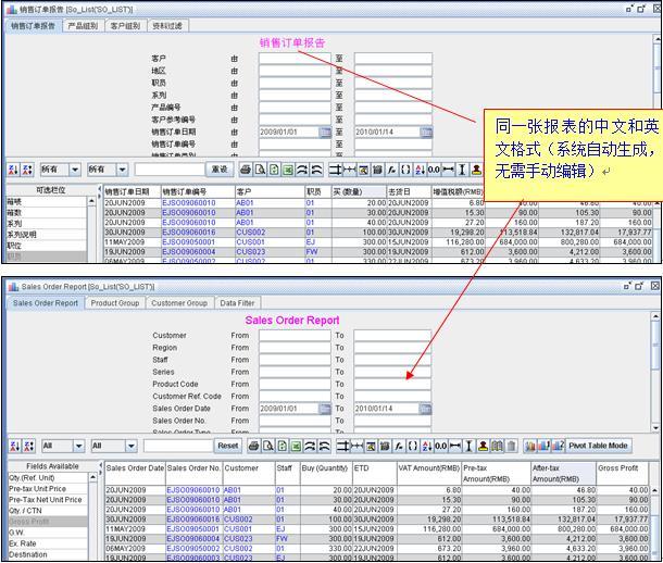 支持多语言ERP系统